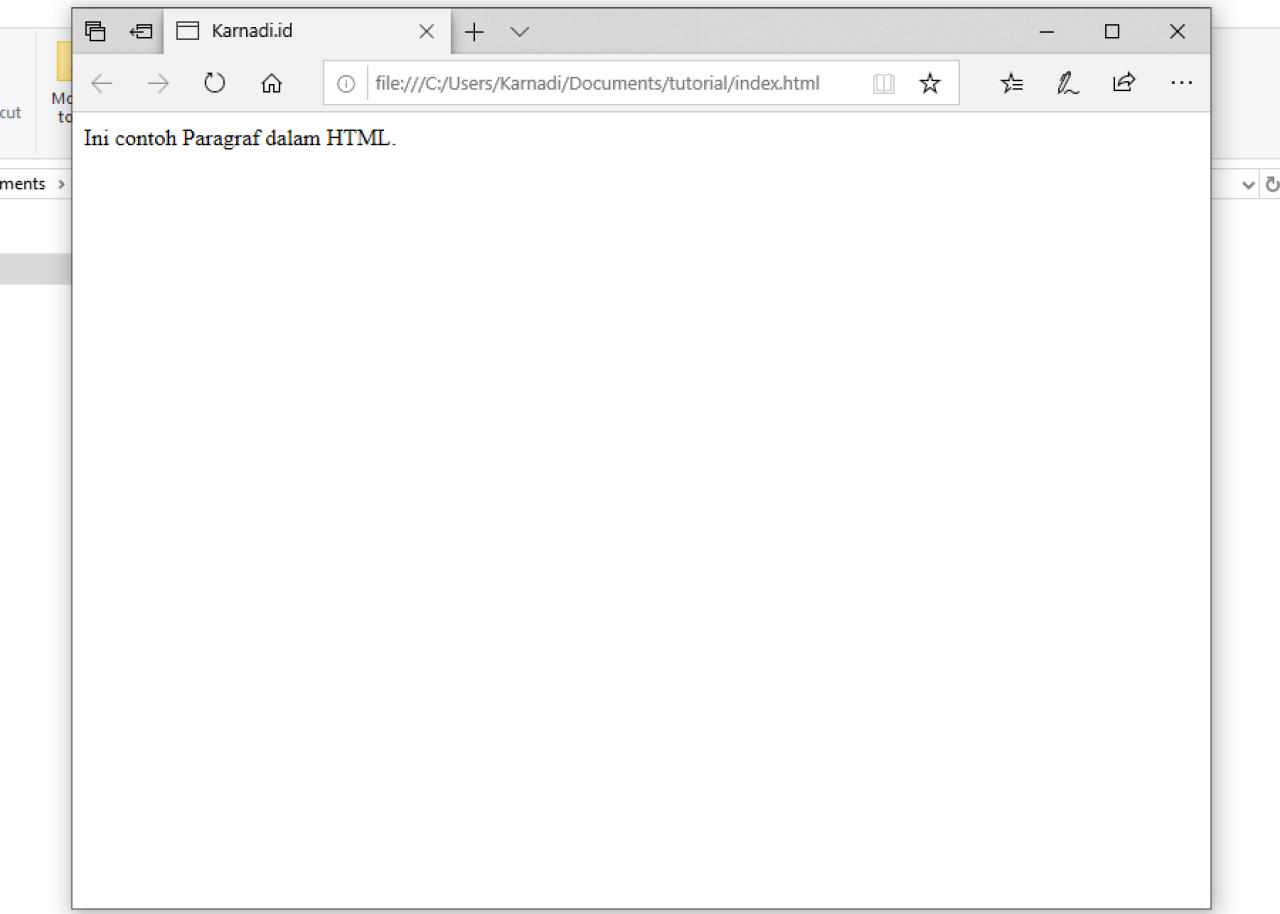yang terlihat di browser berdasarkan contoh