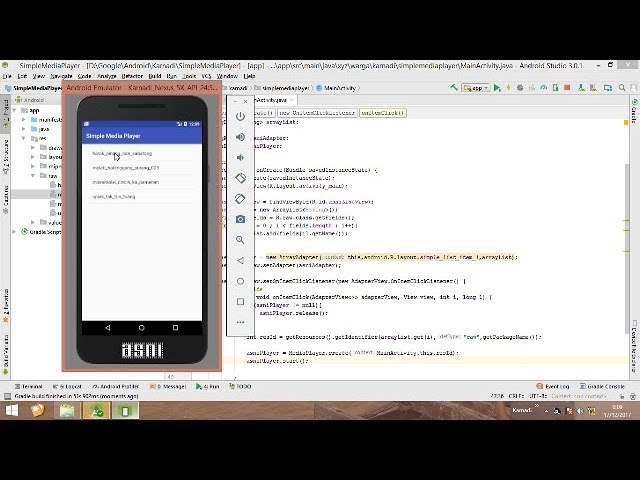 android MediaPlayer   working with arrayList and play audio from local resource